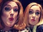 Adele 'surta' em vídeo ao conhecer drag queen que a imita em show