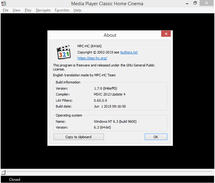 Media Player Classic trava ao colocar legenda