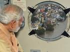 Governo indiano faz montagem com foto de primeiro-ministro em enchente