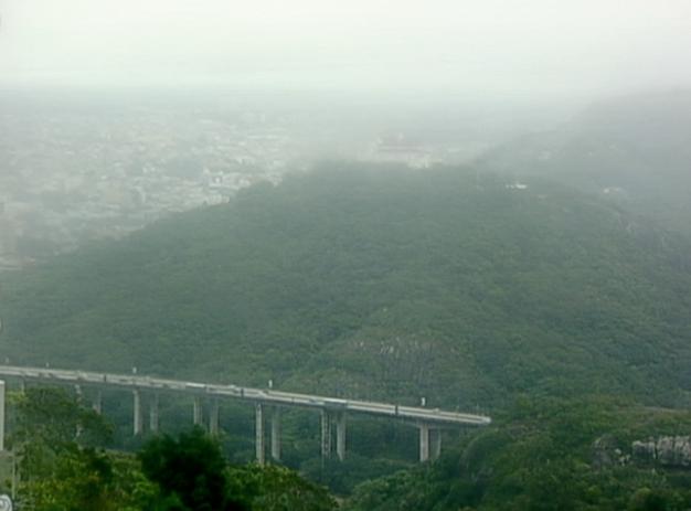 Tempo nublado em Vitória no último sábado (Foto: Reprodução/TV Gazeta)