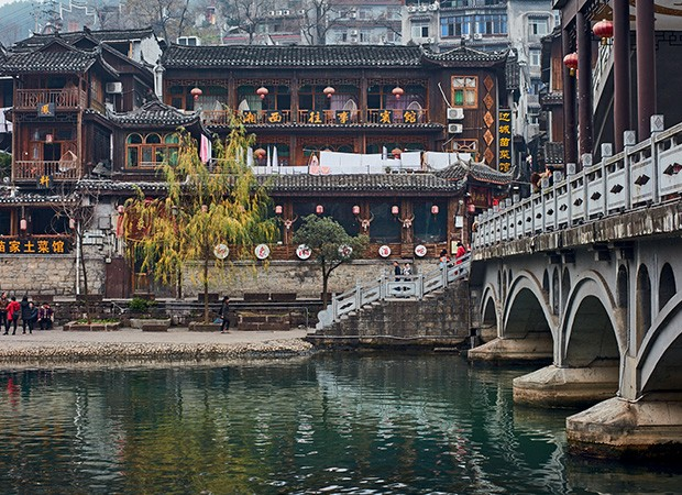 A cidade de Fenghuang (Foto:   Gustavo Zylbersztajn)