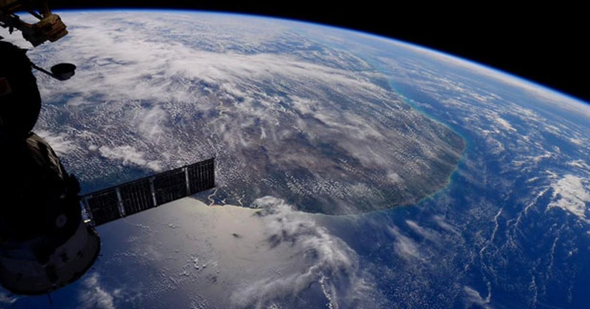 Astronauta italiana publica foto do Nordeste brasileiro visto do espaço