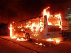 Terceira noite violenta em SC volta a ter ônibus incendiados