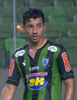 Renan Oliveira, meia do América-MG (Foto: Reprodução/Sportv)