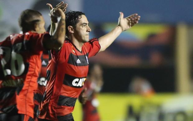 Chicão gol Flamengo x Goiás (Foto: Rafaela Felicciano / Agência Estado)