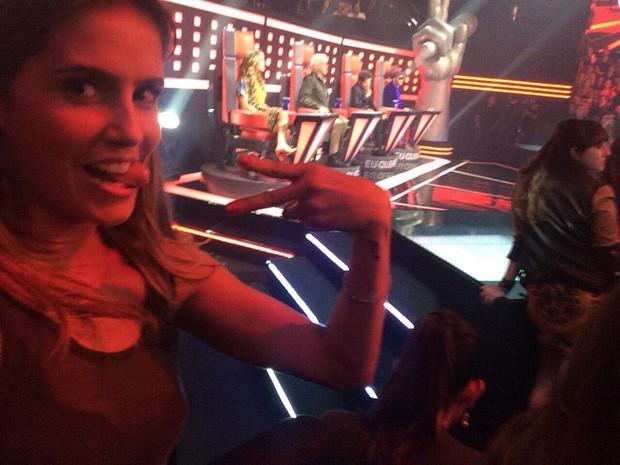 Debora Secco registra os bastidores do reality (Foto: Arquivo Pessoal)
