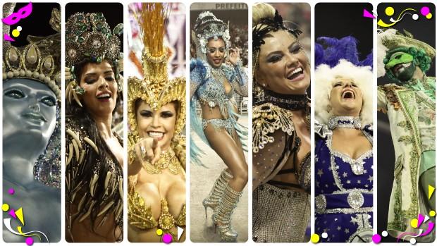 Sete escolas voltaram ao Sambódromo do Anhembi para celebrar os resultados do carnaval 2015.  (Foto: Editoria de Arte/G1)