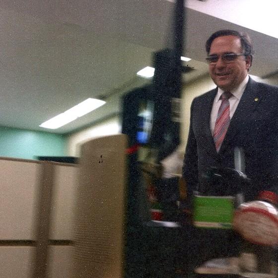 Ex-deputado Sandro Mabel marca presença no Conselho de Ética da Câmara (Foto: Reprodução)