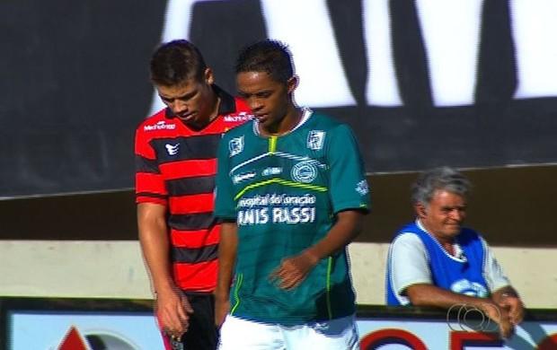 Atlético-GO 1 x 1 Goiás, Goianão 2013 (Foto: Reprodução/TV Anhanguera)