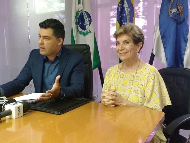 O prefeito reeleito de Ponta Grossa (PR), Marcelo Rangel, fez o anúncio dos nomes que comporão o governo nesta sexta-feira (Foto: Viviane Mallmann / RPC)