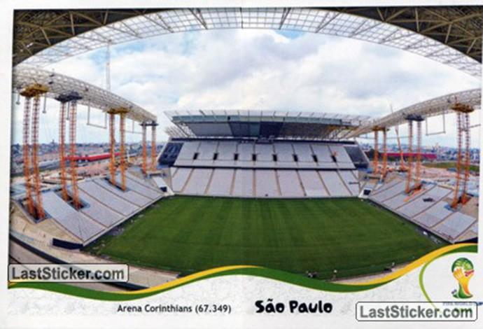 estário Arena Corinthians figurinha Copa do Mundo