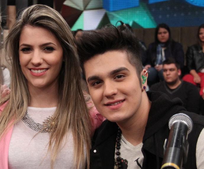 Luan Santana e Jade Magalhães no programa Altas Horas em 2013 (Foto: Marcos Mazini/Gshow)
