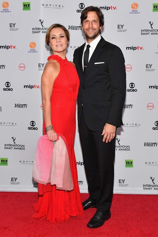 """Vladimir Brichta acompanhou a  Adriana Esteves, que concorreu ao prêmio de melhor atriz por """"Justiça"""" (Foto: Getty Images)"""