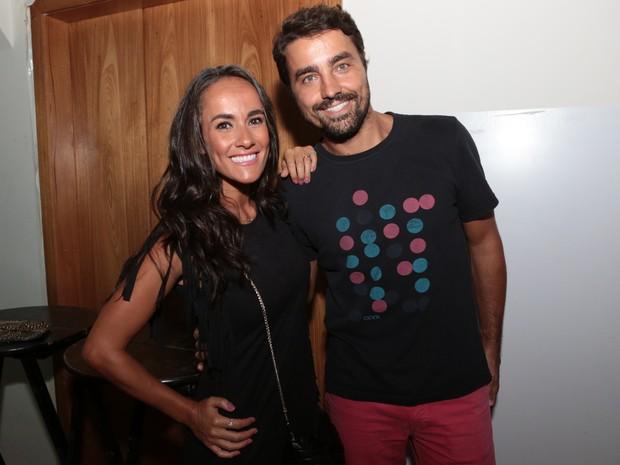Ricardo Pereira e a mulher, Francisca Pinto, em festa na Zona Sul do Rio (Foto: Reginaldo Teixeira/ Divulgação)