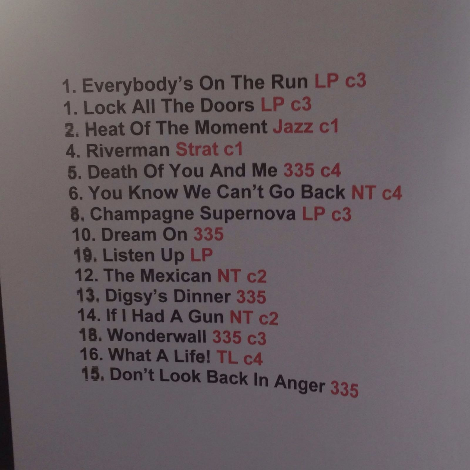 Setlist: Noel Gallagher no Lollapalooza (Foto: Multishow)