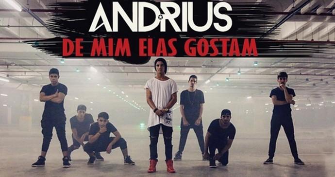 Bastidores do terceiro clipe de Andrius. (Foto: Divulgação)
