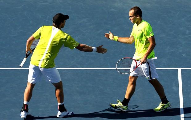 Bruno Soares e Alexander Peya comemoração tênis US Opens (Foto: Getty Images)