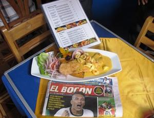 Guerrero Cevicheria cardápio prato (Foto: Marcelo Hazan / Globoesporte.com)