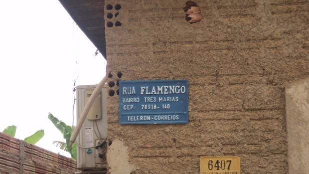 Bairro Lagoa, em Porto Velho, tem ruas com nomes de times (Foto: Larrisa Vieira/GloboEsporte.com)
