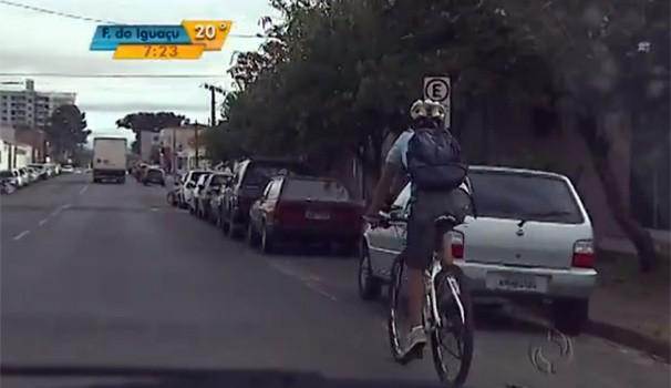 Bom Dia Paraná bicicleta (Foto: Reprodução/ RPC TV)