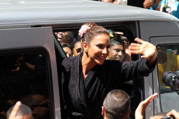 Ivete Sangalo chega ao seu trio em Salvador (Foto: Mauro Zaniboni /Ag Haack)