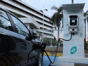 Eletroposto em Campinas para carros elétricos (Foto: Divulgação/CPFL Energia)