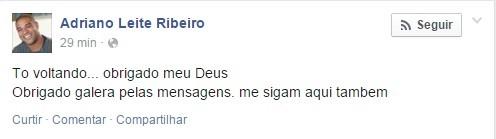 Adriano Imperador Facebook (Foto: Reprodução / Facebook)