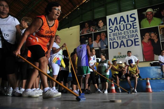 Olimpíada da terceira idade manaus (Foto: Antônio Lima/Semjel)