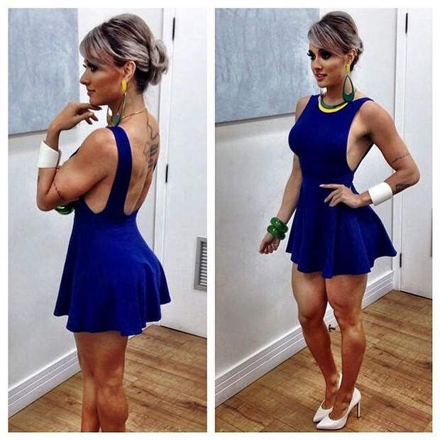 Juju Salimeni exibe look usado em programa de televisão (Foto: Instagram/ Reprodução)