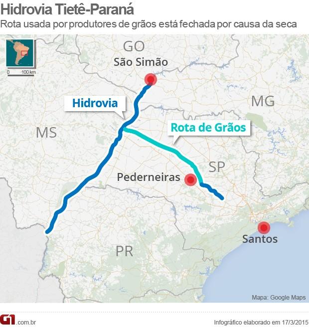 Hidrovia Tietê-Paraná é usada para transporte de grãos (Foto  Editoria ... 26debff866