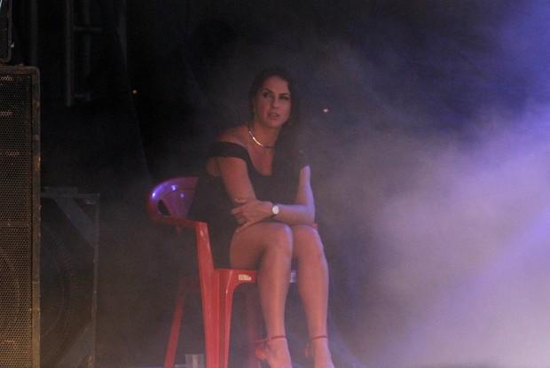 Graciele Lacerda assiste show de Zezé (Foto: Paduardo/Phábrica de Imagens)