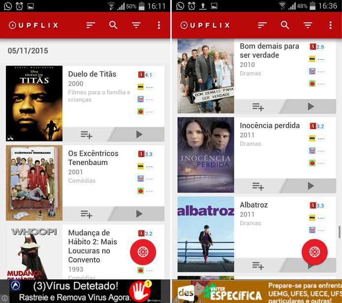 Upflix ajuda você a se manter em dia com o catálogo do Netflix (Foto: Reprodução/Filipe Garrett)