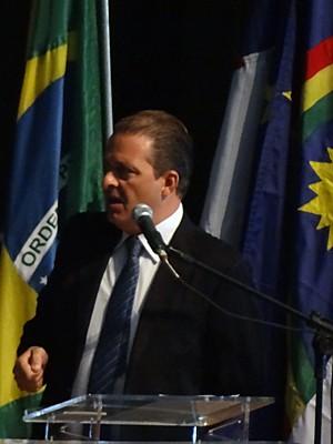 Eduardo Campos discursou para centenas de mulheres. (Foto: Katherine Coutinho / G1)
