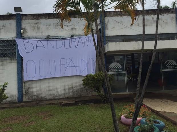 Colégio Estadual Bandeirante foi ocupado pelos estudantes em protesto contra OSs em Goiânia, Goiás (Foto: Divulgação)