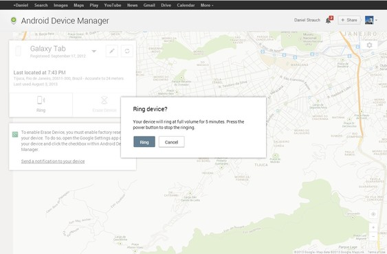 screenshot de Android Device Manager