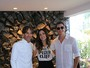 Márcio Garcia e Andrea Santa Rosa vão a brunch no Rio