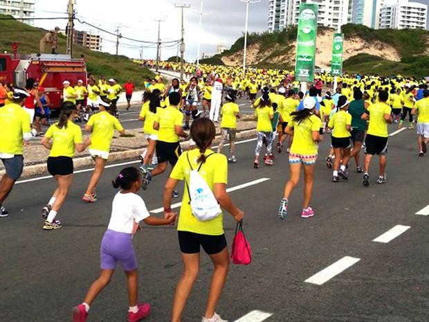 Retirada dos kits ocorre nos dias 24 e 25. (Foto: Bruno Alves / GloboEsporte.com)