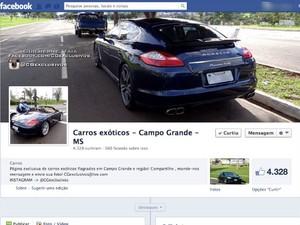Amigos em MS viram 'detetives' em busca de carros de luxo incomuns (Foto: Reprodução/Facebook)