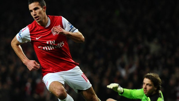 van persie Arsenal x Newcastle (Foto: Getty Images)