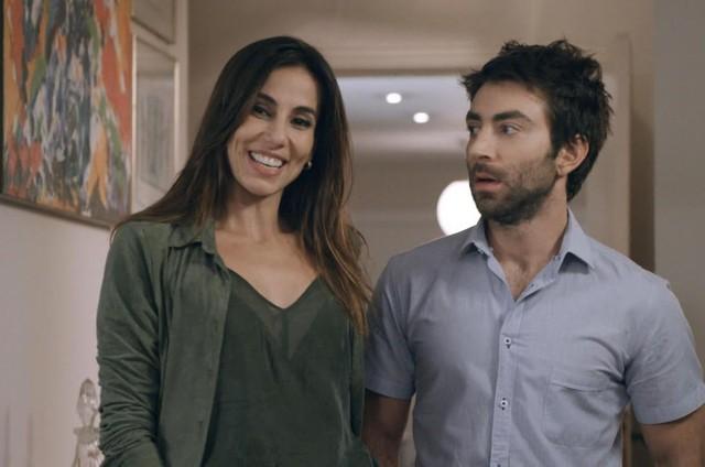 Tania Khalill e Rodrigo Pandolfo em 'Prata da casa' (Foto: Divulgação)