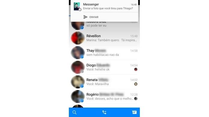 Notificação do Photo Magic quando reconhece algum amigo do Facebook em foto (Foto: Reprodução/Raquel Freire)