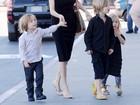 Brad Pitt e Angelina Jolie levam 12 babás para férias no Caribe, diz site