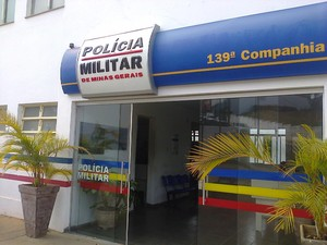Sede da 139ª Companhia PM em Cláudio (Foto: PM/Divulgação)