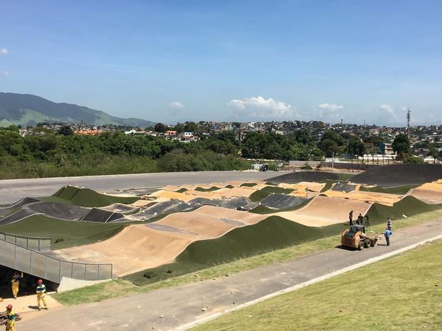 Local também terá pistas de ciclismo BMX e Mountain Bike (Foto: Fernanda Rouvenat / G1)