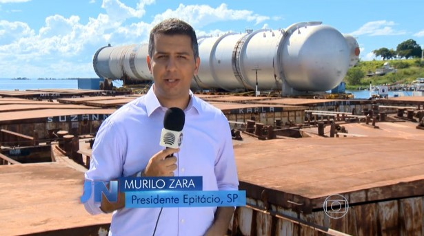 Murilo Zara apresentou a reportagem exibida no Jornal Nacional (Foto: Reprodução/TV Globo)