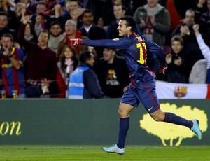 pedro rodriguez barcelona gol espanyol (Foto: Agência EFE)