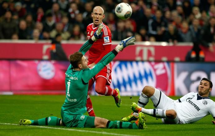 robben bayern de munique  gol schalke 04 (Foto: Agência Reuters)