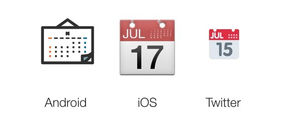 Emoji de calendários dos principais sistemas  (Foto: Reprodução/Emojipedia)