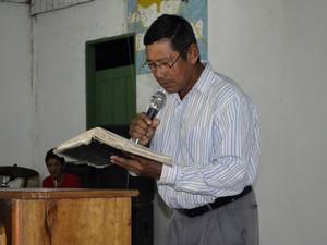 Pastor indígena de Kumenê Florêncio Felício (Foto: Abinoan Santiago/G1)