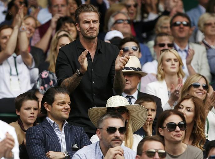David Beckham torcida Roger Federer e Marin Cilic Wimbledon (Foto: Reuters)